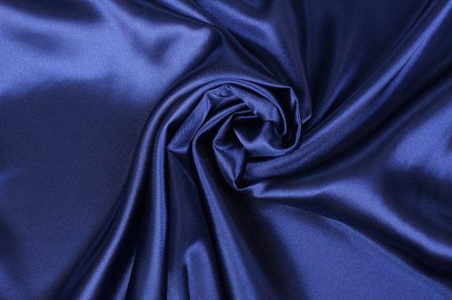 Satén v modré barvě 04796/006