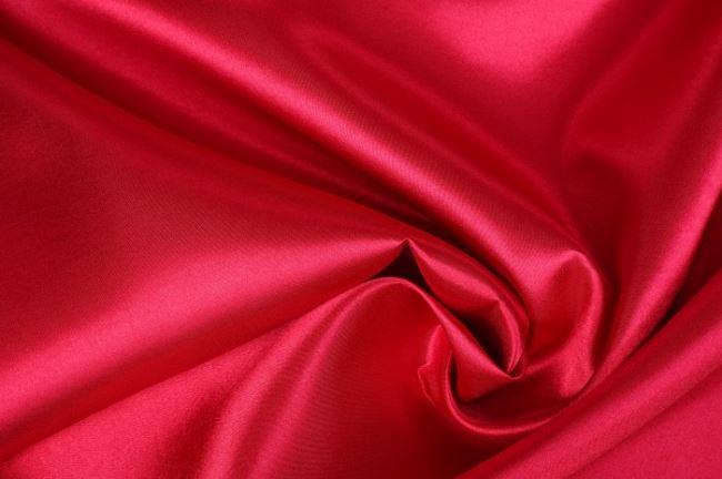 Satén v tmavě červené barvě 0141/440