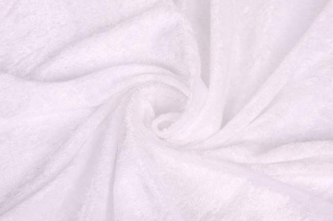 Velour de panne bílý 0140/001