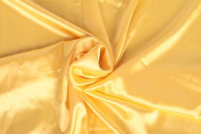 Strečový satén ve žluté barvě 04241/034