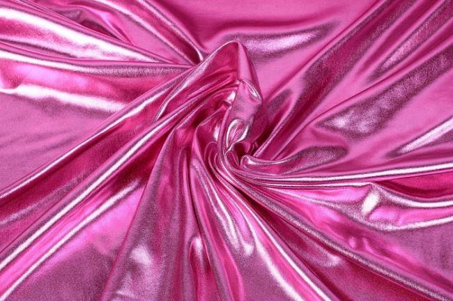 Lamé pletenina v růžové barvě 09746/011