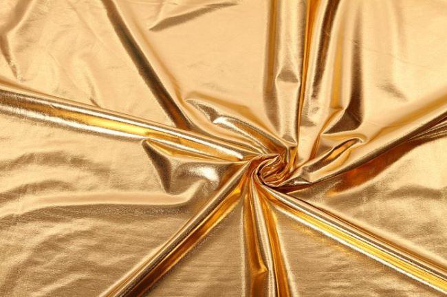 Lamé pletenina ve zlaté barvě 09746/080
