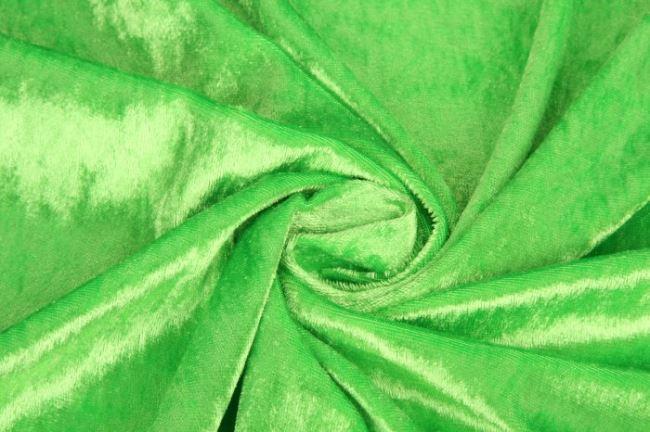 Velour de panne světle zelený 0140/358