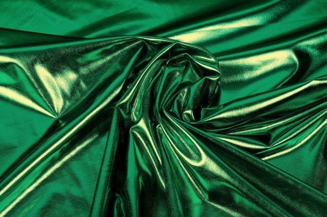 Lamé pletenina v zelené barvě 09746/024