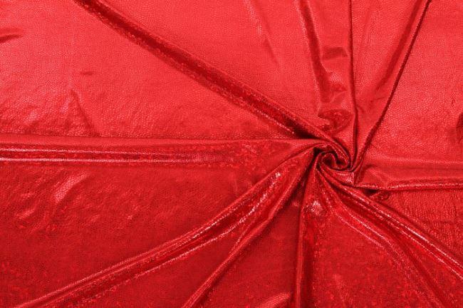 Lamé červené vzorované 02213/015