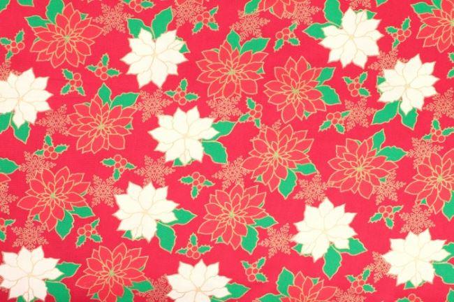 Vánoční bavlna se vzorem 05990/015