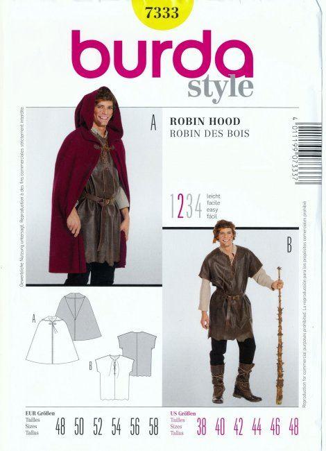 Střih na kostým Robina Hooda 7333