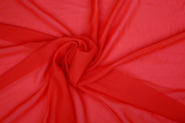 Šifon - červený 03969/016