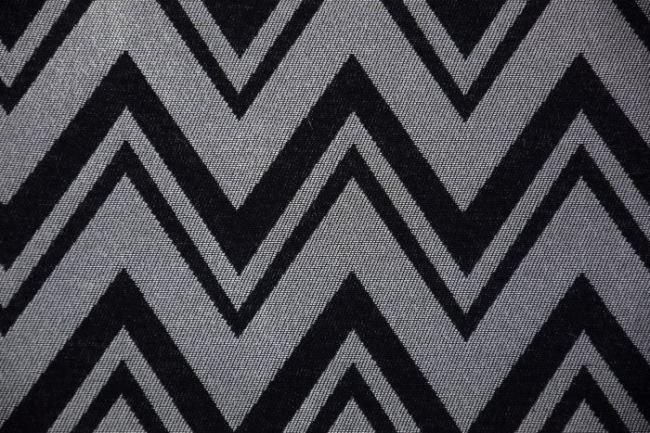 Dekorační látka se stříbrným žakárovým vzorem 1282/170