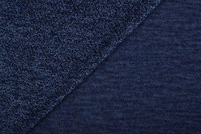Melírovaná pletenina v tmavě modré barvě s počesem 0083/007
