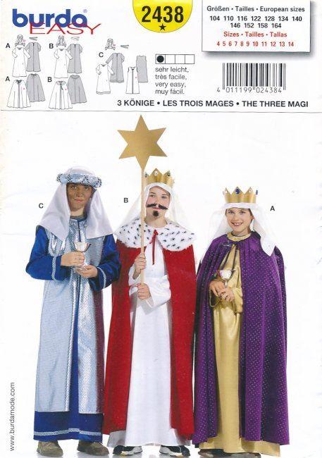 Střih na kostým tří králů 2438