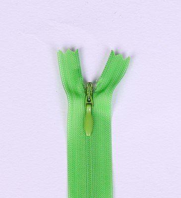 Skrytý zip světle zelený 20cm I-3W0-20/238