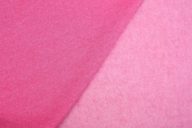 Počesaná teplákovina v růžovém melíru 08650/017