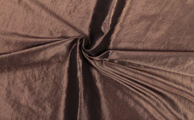 Krešovaný taft v hnědé barvě 05516/054