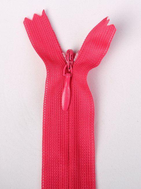 Skrytý zip sytě růžový 35cm I-3W0-35-396