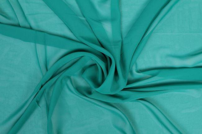 Šifon v zeleném odstínu 03969/024