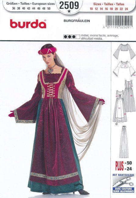 Historický střih na šaty 2509