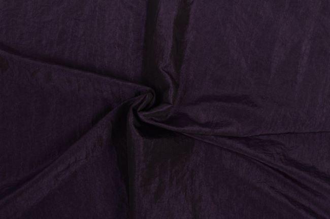 Krešovaný taft tmavě fialový 05516/747