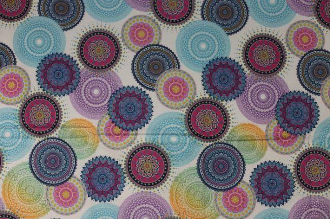 Dekorační látka s barevným digitálním potiskem 1045/042