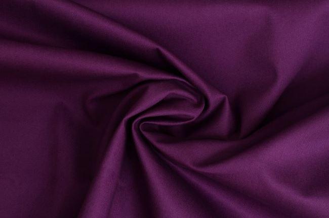 Bavlněný kepr ve fialové barvě 02888/045