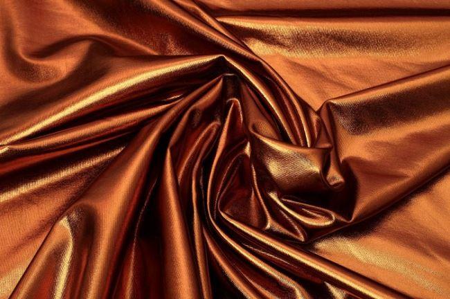 Lamé pletenina v hnědé barvě 09746/053