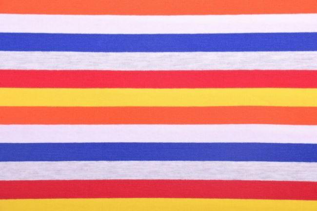 Bavlněný úplet s barevnými pruhy 60773