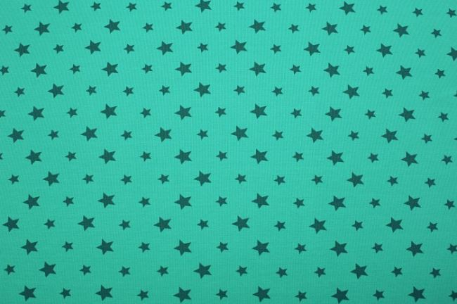 Bavlněný úplet s motivem hvězdiček 08006/124
