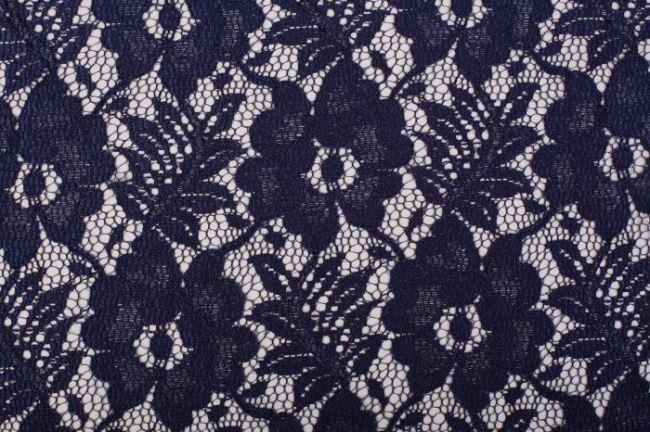 Krajka modré barvy s motivem květin RS30864.001
