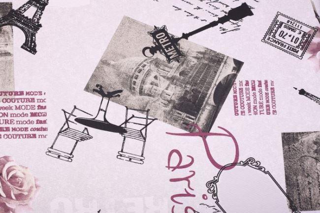 Dekorační látka se vzorem Paříže 1115/016
