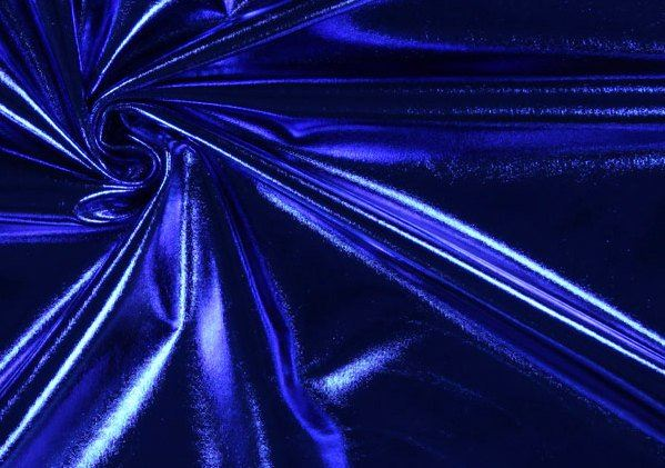 Lamé pletenina v barvě královské modři 09746/005