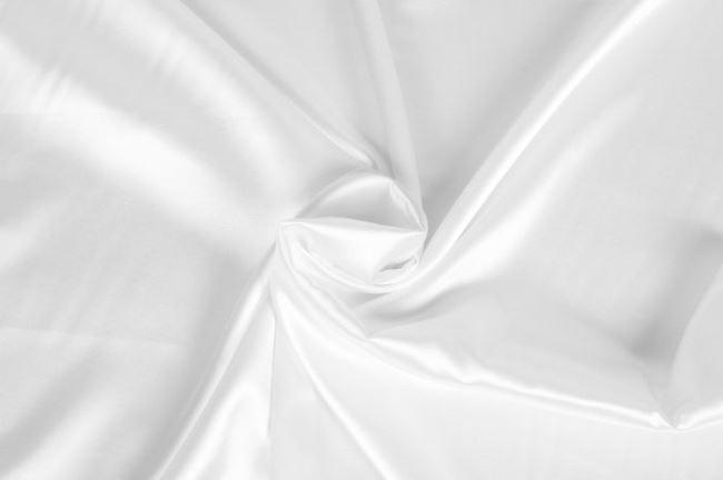 Svatební satén v bílé barvě 0141/001