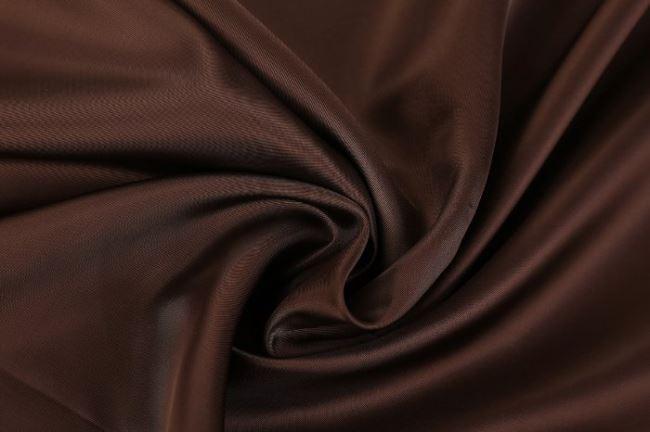 Viskózová podšívka v čokoládové barvě MI25