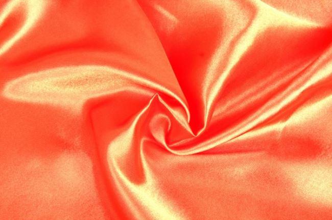 Saténová podšívka v oranžové barvě 06854/136