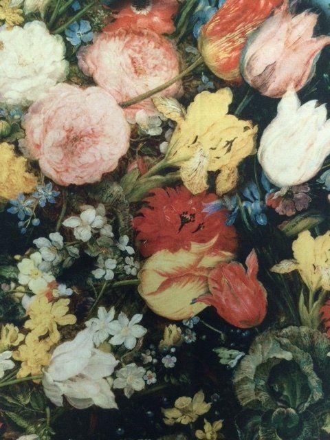 Dekorační látka s digitálním potiskem květin 1212/025