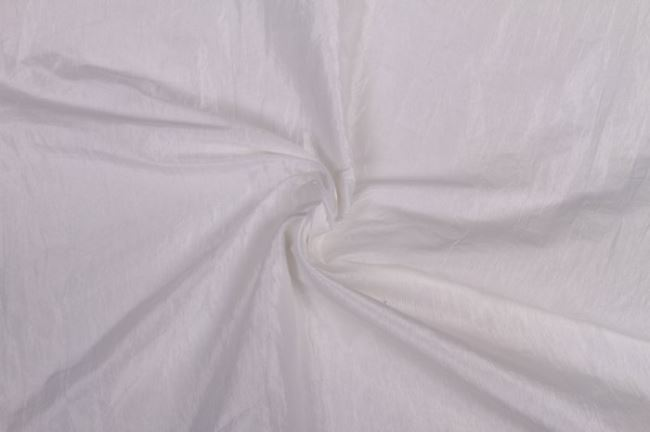 Taft krešovaný v bílé barvě 05516/050