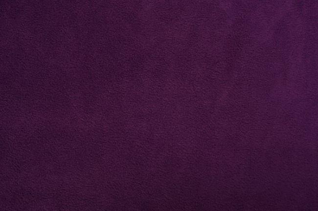 Fleece v tmavě fialové barvě 0115/805