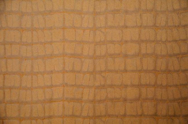 Hnědý semiš s krokodýlím vzorem 7413/053