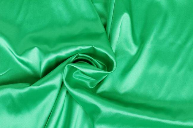 Strečový satén v hráškové barvě 04241/025