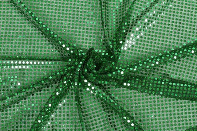 Zelená látka se zelenými flitry 05585/025