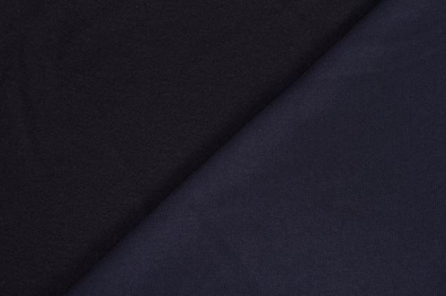 Teplákovina počesaná tmavě modrá 05650/008