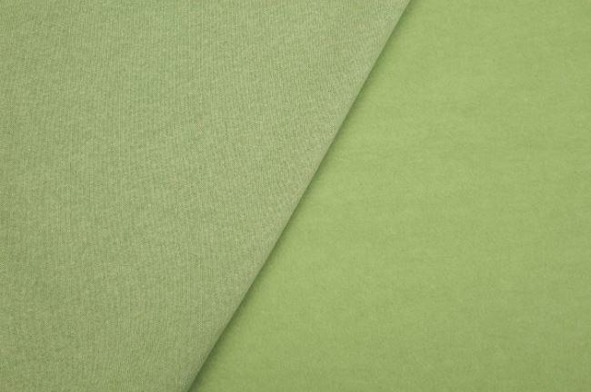 Počesaná teplákovina v zeleném melíru 08650/023