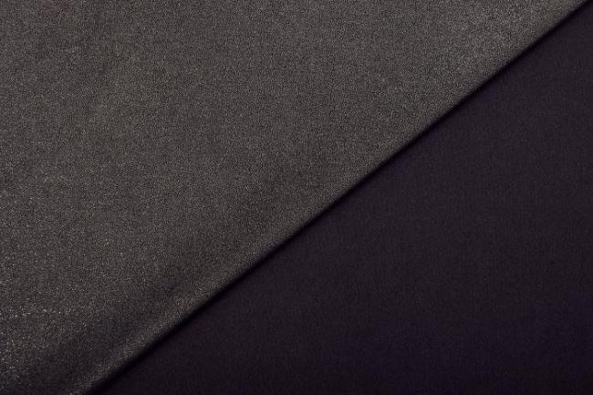 Pružný semiš v černé barvě s leskem 9083/069