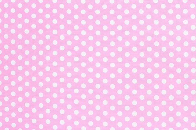 Bavlna světle růžová s puntíky 05576/011