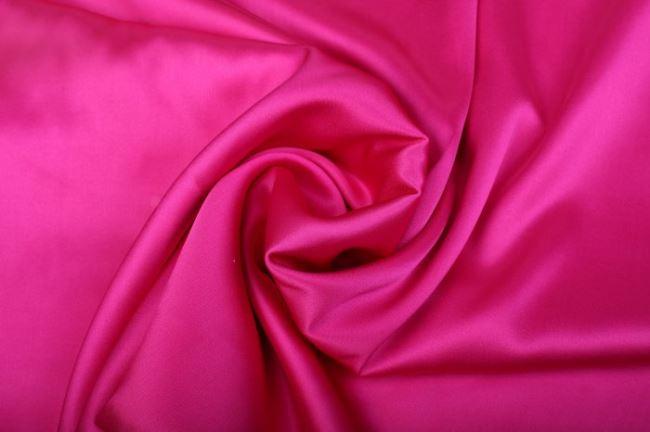 Pružné hedvábí v sytě růžové barvě 605692/5018