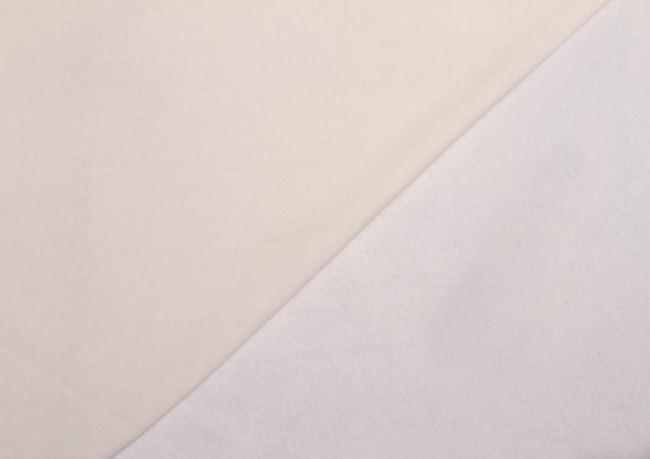 Teplákovina počesaná bílá 05650/050