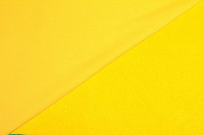 Teplákovina počesaná žlutá 05650/035