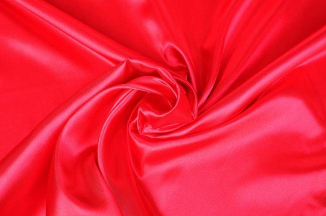 Satén v jasně červené barvě 0141/445