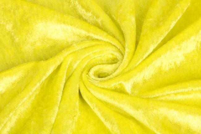 Velour de panne žlutý 0140/315