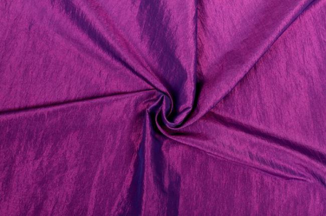 Krešovaný taft v lila barvě 05516/745