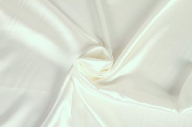 Saténová podšívka v bílé barvě 06854/050